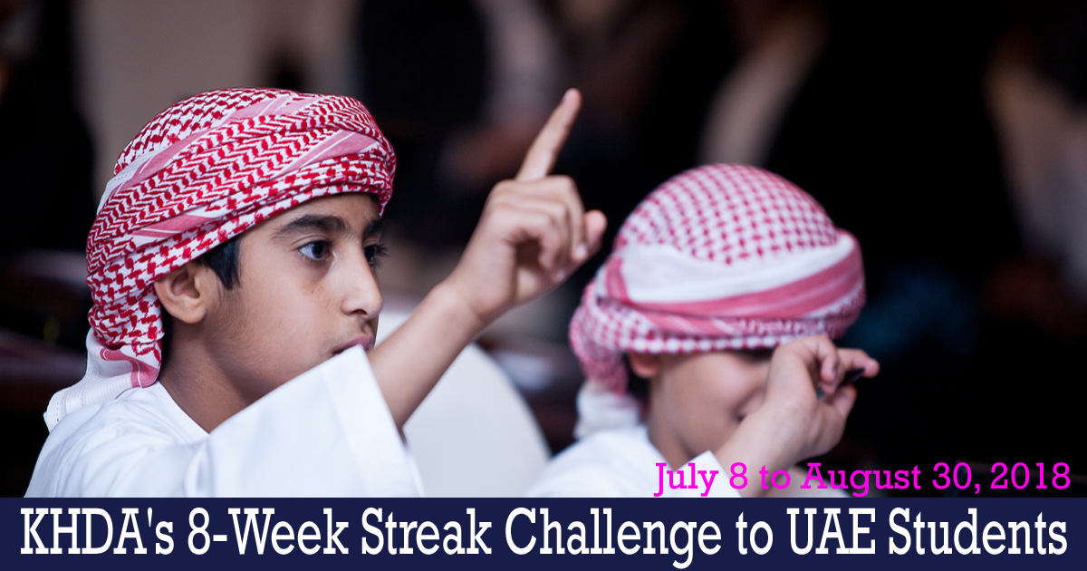 KHDA brings back '#8WeekStreak' Initiative for UAE Students